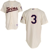 Mitchell and Ness Minnesota Twins #3 Harmon Killebrew Cream Black Strip Stitched MLB Jersey
