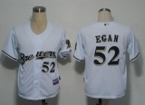 Milwaukee Brewers #52 Egan White Stitched MLB Jersey