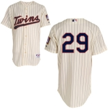 Mitchell and Ness Minnesota Twins #29 Rod Carew Cream Black Strip Stitched MLB Jersey