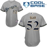 Milwaukee Brewers #52 Pat Egan Grey Cool Base Stitched MLB Jersey