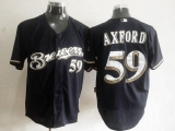 Milwaukee Brewers #59 John Axford Blue Cool Base Stitched MLB Jersey