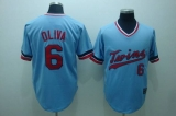 Mitchelland Ness Minnesota Twins #6 Tony Oliva Stitched Light Blue Throwback MLB Jersey