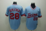 Mitchelland Ness Minnesota Twins #28 Bert Blyleven Stitched Light Blue Throwback MLB Jersey