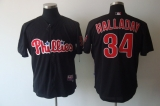 Philadelphia Phillies #34 Roy Halladay Black Stitched MLB Jersey