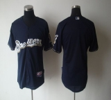 Milwaukee Brewers Blank Blue Cool Base Stitched MLB Jersey