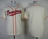Milwaukee Brewers Blank Cream 1948 Turn Back The Clock Stitched MLB Jersey