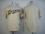 Milwaukee Brewers Blank Cream YOUniform Cool Base Stitched MLB Jersey