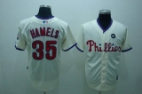 Philadelphia Phillies #35 Colbert Hamels Stitched Cream MLB Jersey