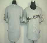 Milwaukee Brewers Blank Grey Cool Base Stitched MLB Jersey