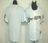Milwaukee Brewers Blank White Cool Base Stitched MLB Jersey
