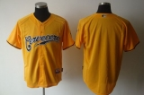 Milwaukee Brewers Blank Yellow Cerveceros Cool Base Stitched MLB Jersey