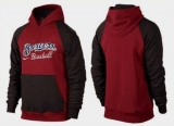Milwaukee Brewers Pullover Hoodie Burgundy Red & Black