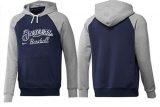 Milwaukee Brewers Pullover Hoodie Dark Blue & Grey