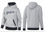 Milwaukee Brewers Pullover Hoodie Grey & Black