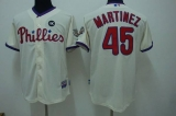 Philadelphia Phillies #45 Pedro Martinez Stitched Cream MLB Jersey