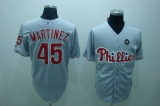 Philadelphia Phillies #45 Pedro Martinez Stitched Grey MLB Jersey