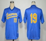 Mitchell And Ness 1991 Milwaukee Brewers #19 Robin Yount Blue Stitched MLB Jersey