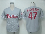 Philadelphia Phillies #47 Scott Mathieson Grey Cool Base Stitched MLB Jersey