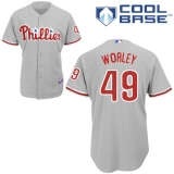 Philadelphia Phillies #49 Vance Worley Grey Cool Base Stitched MLB Jersey