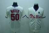 Philadelphia Phillies #50 Jamie Moyer Stitched Cream MLB Jersey