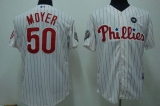 Philadelphia Phillies #50 Jamie Moyer Stitched White Red Strip MLB Jersey