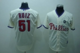 Philadelphia Phillies #51 Carlos Ruiz Stitched Cream MLB Jersey