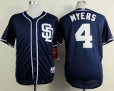San Diego Padres #4 Wil Myers Dark Blue Alternate 1 Cool Base Stitched MLB Jersey