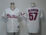 Philadelphia Phillies #57 David Herndon Cream Cool Base Stitched MLB Jersey