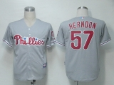 Philadelphia Phillies #57 David Herndon Grey Cool Base Stitched MLB Jersey