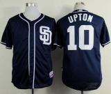 San Diego Padres #10 Justin Upton Dark Blue Alternate 1 Cool Base Stitched MLB Jersey