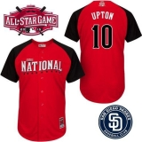 San Diego Padres #10 Justin Upton Red 2015 All-Star National League Stitched MLB Jersey
