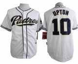 San Diego Padres #10 Justin Upton White Cool Base Stitched MLB Jersey