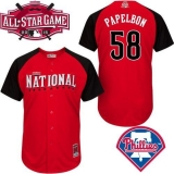 Philadelphia Phillies #58 Jonathan Papelbon Red 2015 All-Star National League Stitched MLB Jersey