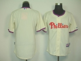 Philadelphia Phillies Blank Cream Cool Base Stitched MLB Jersey