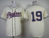 San Diego Padres #19 Tony Gwynn Cream 1948 Turn Back The Clock Stitched MLB Jersey