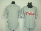 Philadelphia Phillies Blank Grey Cool Base Stitched MLB Jersey