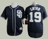 San Diego Padres #19 Tony Gwynn Navy Blue Cool Base Stitched MLB Jersey