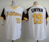 San Diego Padres #19 Tony Gwynn White 1978 Turn Back The Clock Stitched MLB Jersey