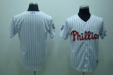 Philadelphia Phillies Blank Stitched White Red Strip MLB Jersey