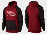 Philadelphia Phillies Pullover Hoodie Burgundy Red & Black