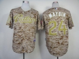 San Diego Padres #24 Cameron Maybin Camo Alternate 2 Cool Base Stitched MLB Jersey