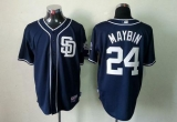 San Diego Padres #24 Cameron Maybin Dark Blue Alternate 1 Cool Base Stitched MLB Jersey