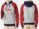 Philadelphia Phillies Pullover Hoodie Grey & Red