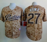 San Diego Padres #27 Matt Kemp Camo Alternate 2 Cool Base Stitched MLB Jersey