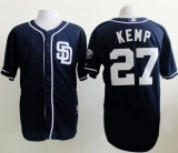 San Diego Padres #27 Matt Kemp Dark Blue Alternate 1 Cool Base Stitched MLB Jersey