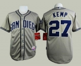 San Diego Padres #27 Matt Kemp Grey Cool Base Stitched MLB Jersey