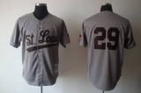 Mitchell And Ness 1953 Browns #29 Satchel Paige Grey Stitched MLB Jersey