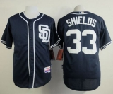San Diego Padres #33 James Shields Dark Blue Alternate 1 Cool Base Stitched MLB Jersey
