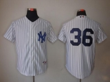 New York Yankees #36 Carlos Beltran White Stitched MLB Jersey