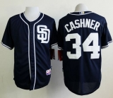 San Diego Padres #34 Andrew Cashner Dark Blue Alternate 1 Cool Base Stitched MLB Jersey